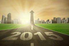 Estrada que vai acima com número 2015 Imagens de Stock