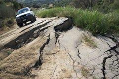 Estrada quebrada Foto de Stock