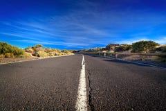 Estrada rachada foto de stock