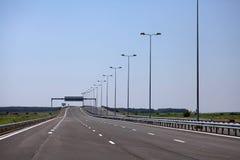 Estrada recentemente construída Fotografia de Stock Royalty Free