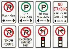 A estrada reguladora assina dentro Ontário - Canadá ilustração royalty free