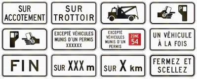 A estrada reguladora assina dentro Quebeque - Canadá Imagens de Stock Royalty Free