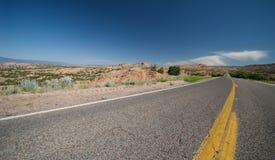Estrada remota de New mexico Fotografia de Stock