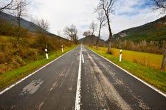 Estrada reta Imagens de Stock