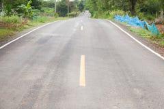 Estrada reta adiante Imagens de Stock
