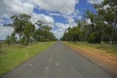 Estrada reta longa Fotografia de Stock