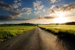 Estrada reta longa Imagem de Stock Royalty Free