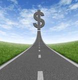 Estrada à riqueza Imagens de Stock Royalty Free