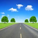 Estrada rodoviária asfaltada Fotos de Stock Royalty Free