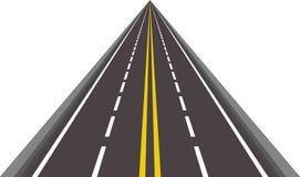 Estrada rodoviária asfaltada reta Fotografia de Stock Royalty Free