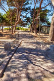 Estrada romana antiga Foto de Stock Royalty Free