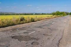 estrada ruim Foto de Stock