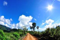 Estrada a rural Imagem de Stock