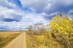 Estrada rural do outono imagem de stock