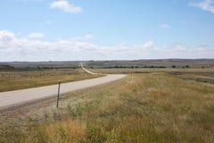 Estrada rural em Montana, EUA imagem de stock