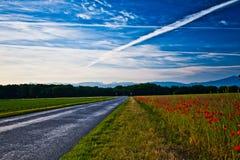Estrada rural suíça Imagem de Stock