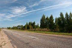 Estrada só do verão Imagens de Stock