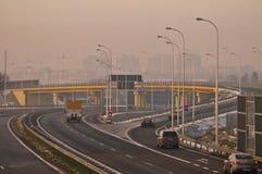 Estrada S17 próximo a Lublin, Polônia Imagens de Stock Royalty Free