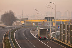 Estrada S17 próximo a Lublin, Polônia Foto de Stock Royalty Free