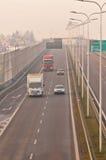 Estrada S17 próximo a Lublin, Polônia Foto de Stock