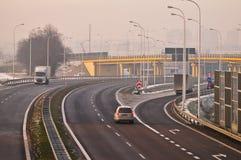 Estrada S17-S12 próximo a Lublin, Polônia Imagens de Stock Royalty Free