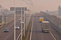 Estrada S17-S12 próximo a Lublin, Polônia Fotos de Stock Royalty Free