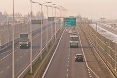 Estrada S17-S12 próximo a Lublin, Polônia Foto de Stock
