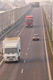 Estrada S17-S12 próximo a Lublin, Polônia Foto de Stock Royalty Free