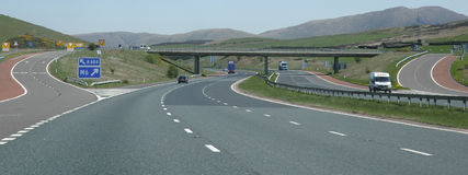 Estrada a Scotland Imagens de Stock