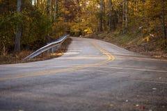 Estrada secundária fotografia de stock