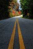 Estrada secundária da queda Fotografia de Stock Royalty Free