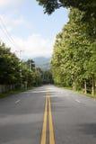 Estrada secundária de Ásia Fotos de Stock