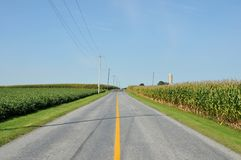 Estrada secundária de Amish Fotografia de Stock Royalty Free