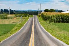 Estrada secundária do Condado de Lancaster Fotografia de Stock Royalty Free