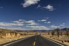 Estrada secundária em Sichuan China Fotografia de Stock