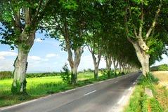 Estrada secundária francesa imagens de stock
