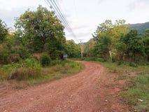 Estrada secundária no outono Fotografia de Stock Royalty Free