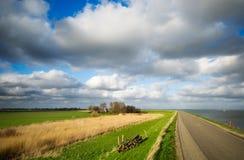 Estrada secundária nos Países Baixos Imagens de Stock