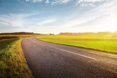 Estrada secundária vazia Imagens de Stock