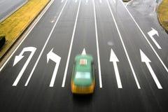 Estrada, sentido da seta Imagem de Stock