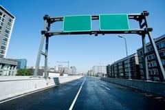 Estrada, sinais de estrada Foto de Stock