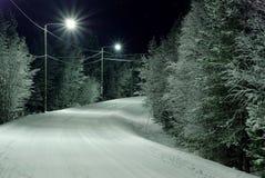 Estrada Snow-covered Fotografia de Stock
