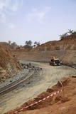 Estrada sob a construção Imagem de Stock Royalty Free