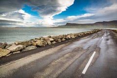 Estrada sobre o mar Foto de Stock Royalty Free