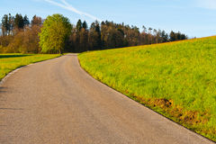 Estrada suíça Imagens de Stock