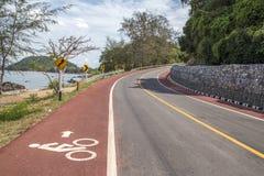 Estrada subida da bicicleta de Seaview Fotografia de Stock Royalty Free