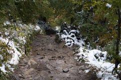 Estrada suja nas montanhas Fotos de Stock Royalty Free
