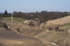 Estrada suja no país polonês Imagem de Stock Royalty Free