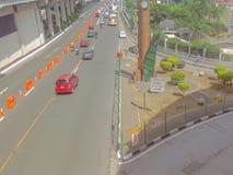 Estrada super de Edsa-Guadalupe na cidade de Makati, metro Manila, Filipinas Fotos de Stock