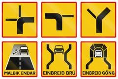 A estrada suplementar assina dentro Islândia ilustração royalty free